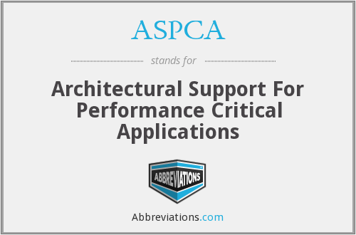 ASPCA - Architectural Support For Performance Critical Applications