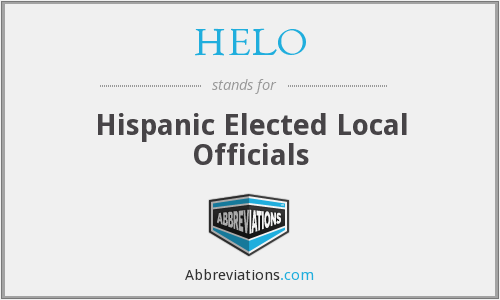 HELO - Hispanic Elected Local Officials