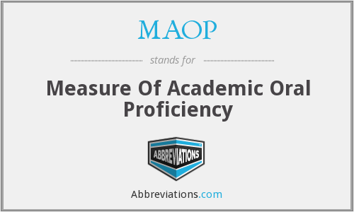 MAOP - Measure Of Academic Oral Proficiency
