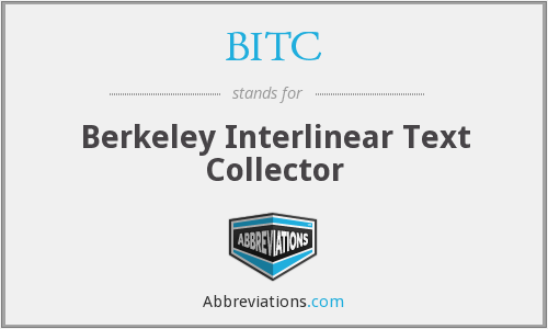 BITC - Berkeley Interlinear Text Collector