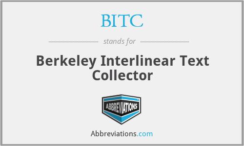 BITC - Berkeley Interlinear Text Collector