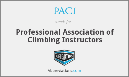 PACI - Professional Association of Climbing Instructors