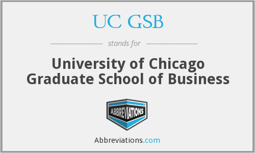 What does UC GSB stand for?