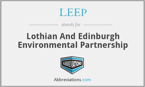 LEEP - Lothian And Edinburgh Environmental Partnership