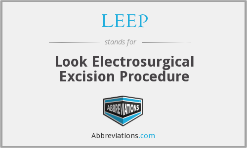 LEEP - Look Electrosurgical Excision Procedure
