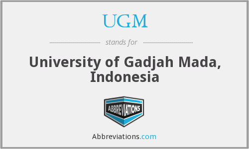 UGM - University of Gadjah Mada, Indonesia