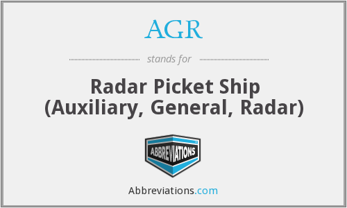AGR - Radar Picket Ship (Auxiliary, General, Radar)