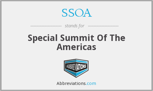 SSOA - Special Summit Of The Americas