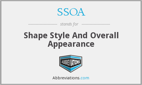 SSOA - Shape Style And Overall Appearance