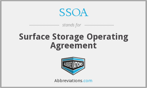 SSOA - Surface Storage Operating Agreement