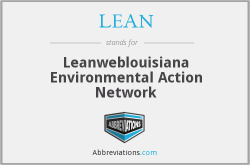 LEAN - Leanweblouisiana Environmental Action Network