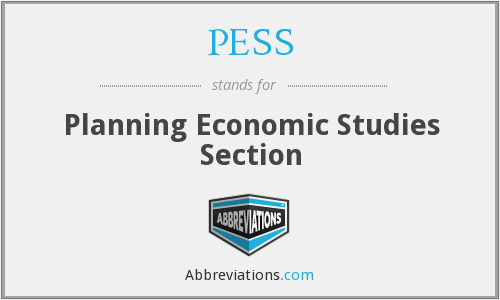 PESS - Planning Economic Studies Section