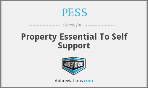 PESS - Property Essential To Self Support
