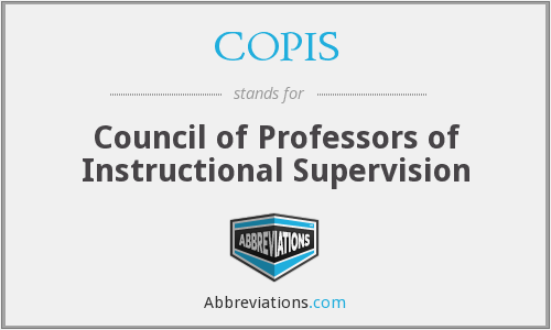 COPIS - Council of Professors of Instructional Supervision
