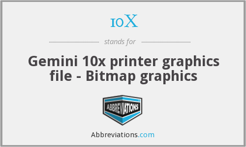 10X - Gemini 10x printer graphics file - Bitmap graphics
