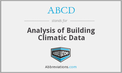 ABCD - Analysis of Building Climatic Data
