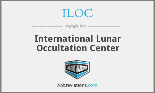 ILOC - International Lunar Occultation Center