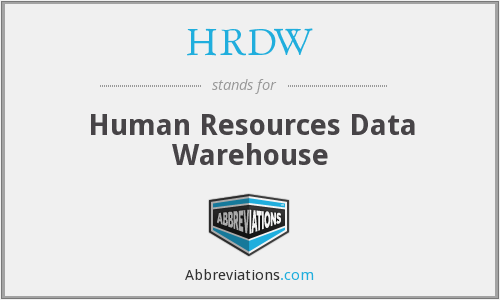 HRDW - Human Resources Data Warehouse