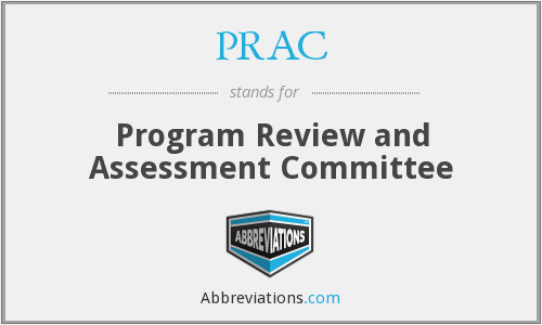 PRAC - Program Review and Assessment Committee
