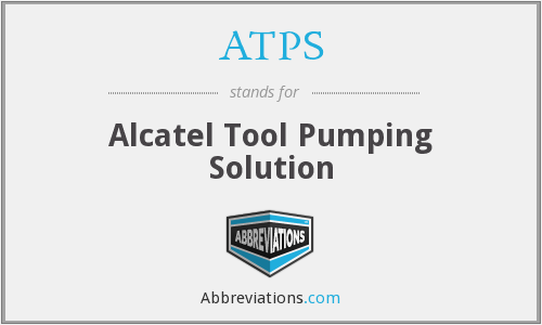 ATPS - Alcatel Tool Pumping Solution