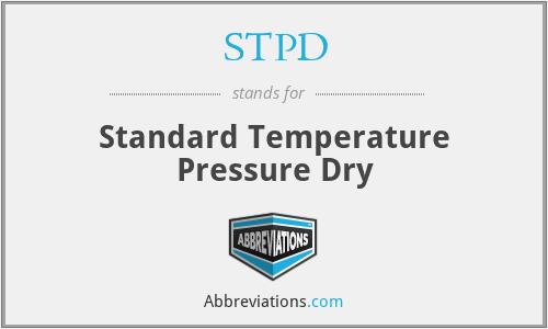 STPD - Standard Temperature Pressure Dry