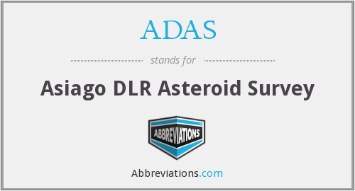 ADAS - Asiago DLR Asteroid Survey
