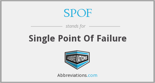 SPOF - Single Point Of Failure