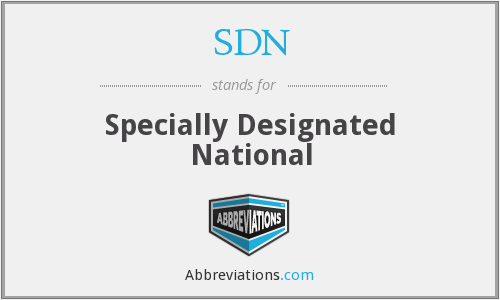 SDN - Specially Designated National