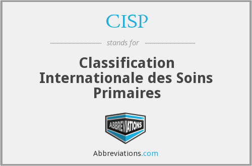 CISP - Classification Internationale des Soins Primaires