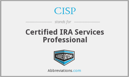 CISP - Certified IRA Services Professional