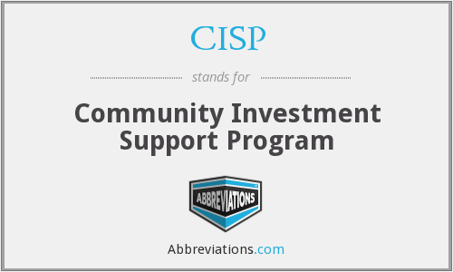 CISP - Community Investment Support Program