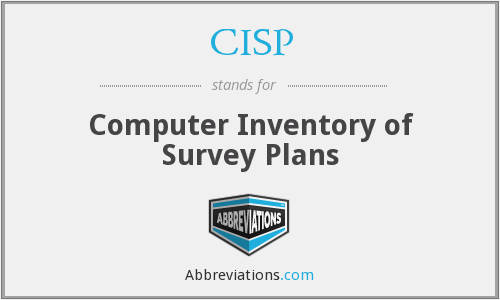 CISP - Computer Inventory of Survey Plans