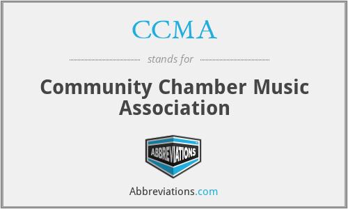CCMA - Community Chamber Music Association