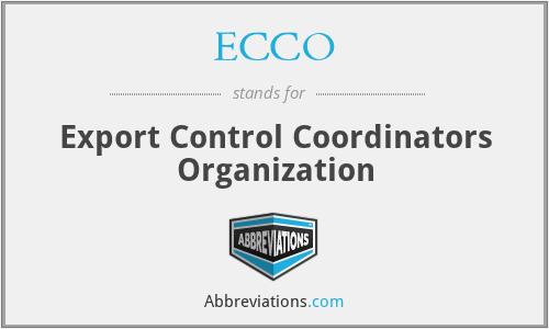 ECCO - Export Control Coordinators Organization