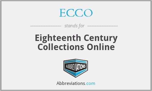ECCO - Eighteenth Century Collections Online