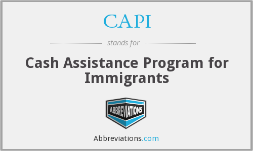 CAPI - Cash Assistance Program for Immigrants