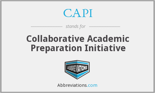 CAPI - Collaborative Academic Preparation Initiative