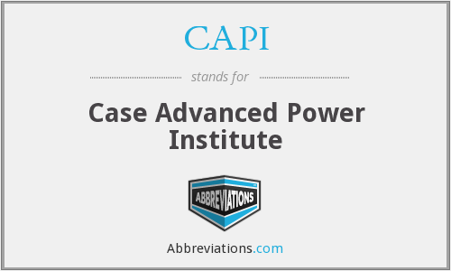 CAPI - Case Advanced Power Institute