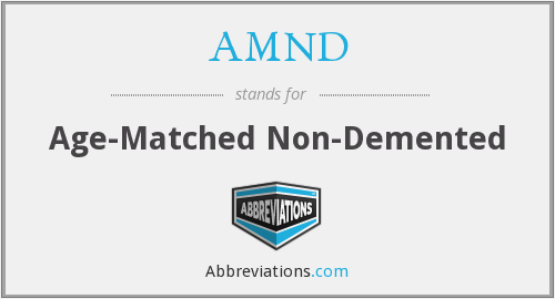 AMND - Age-Matched Non-Demented