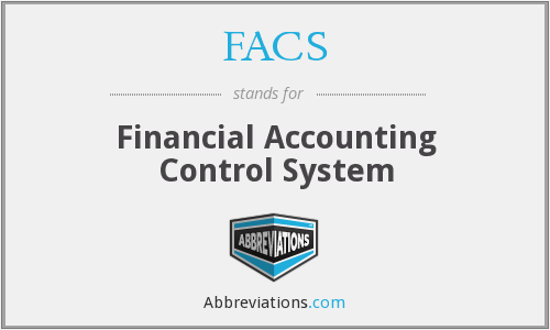 FACS - Financial Accounting Control System