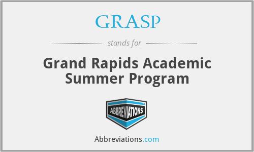GRASP - Grand Rapids Academic Summer Program