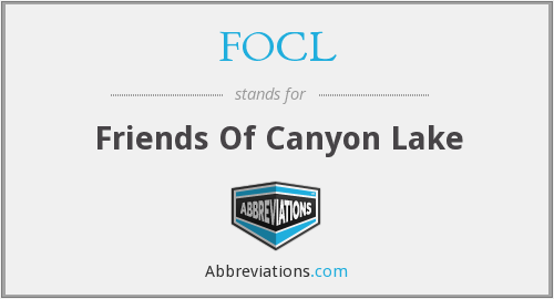FOCL - Friends Of Canyon Lake