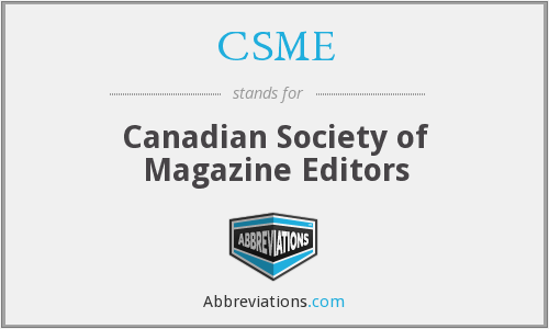 CSME - Canadian Society of Magazine Editors