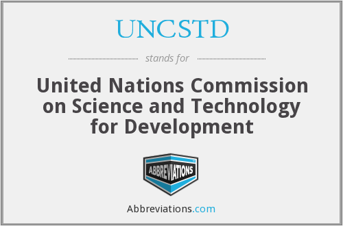 UNCSTD - United Nations Conference on Science and Technology for Development