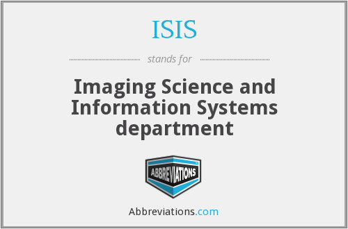 ISIS - Imaging Science and Information Systems department