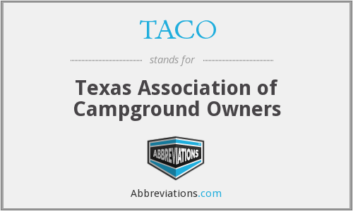 TACO - Texas Association Of Campground Owners