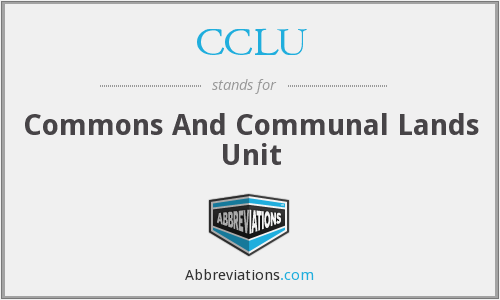 CCLU - Commons And Communal Lands Unit