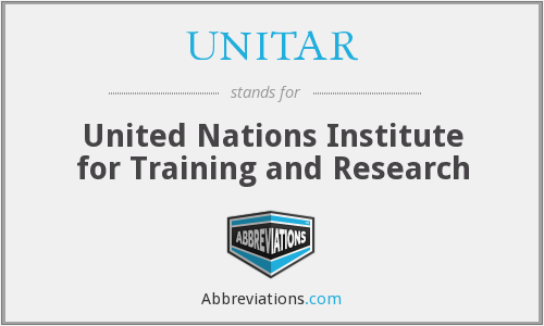 What does UNITAR stand for?