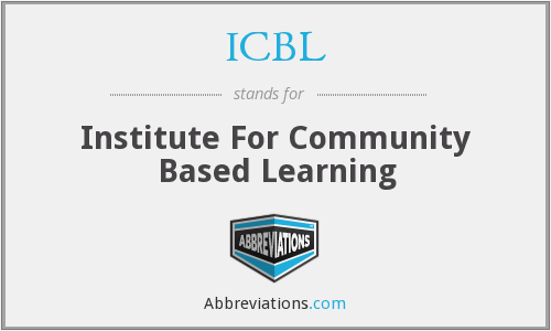 ICBL - Institute For Community Based Learning