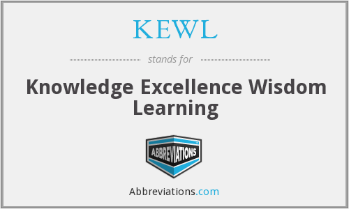 KEWL - Knowledge Excellence Wisdom Learning
